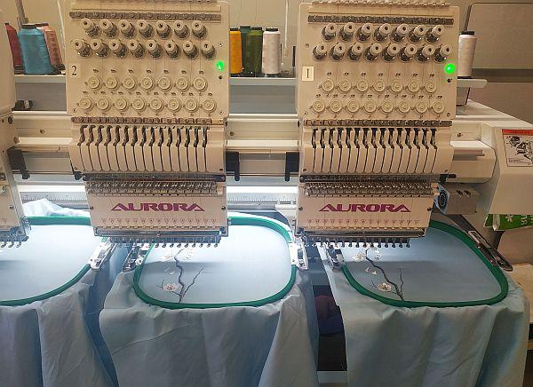 вышивальная машинка на фабрике Эспера