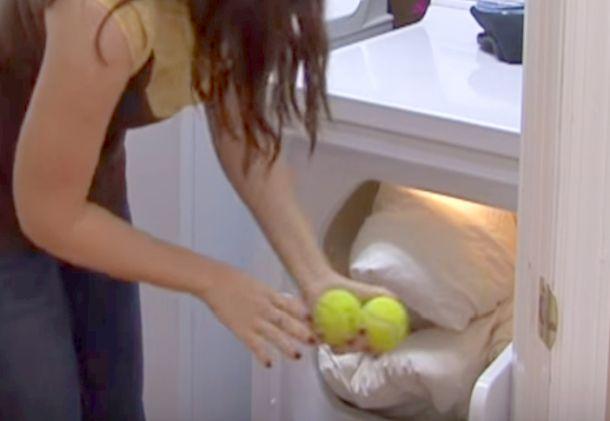 Теннисные мячики в стиральной машине